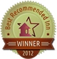 2012 Best Recommended Inn Winner