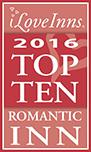 ILoveInns 2016 Top Ten Romantic Inn Logo