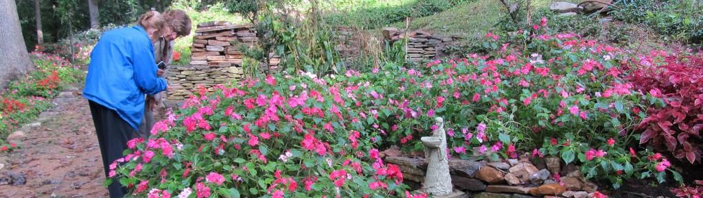 garden tour at Gramercy Mansion