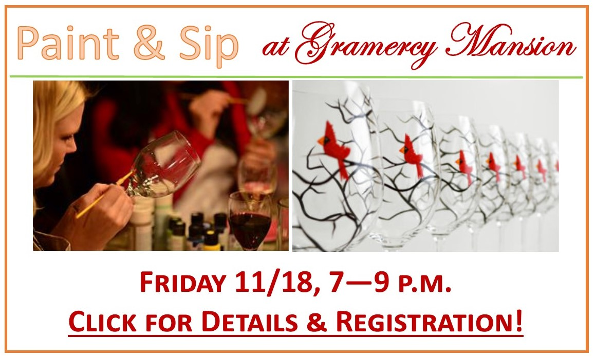 Paint And Sip Banner For Website Gramercy Mansion