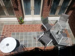 Cassatt Suite patio aerial view