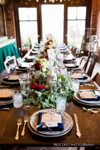 Farm table and place settings, Procopio Photography