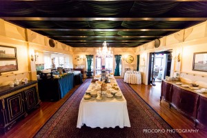 Dining room desserts and stations, Procopio Photography