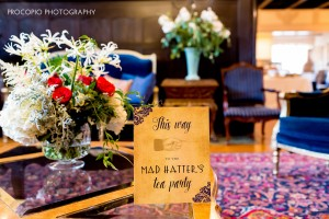 Foyer entry table and sign, Procopio Photography