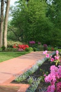 May garden wedding walk