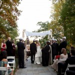 October ceremony under Chuppah, Jackson Photography