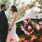 Wedding couple in garden, (C) Lindsay Hite / www.readyluck.com