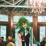 Atrium wedding ceremony, (C) Lindsay Hite / www.readyluck.com