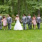 Bridal party in summer garden, House of Redbird Photography