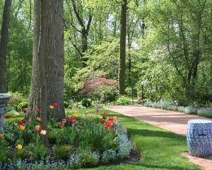 April garden path