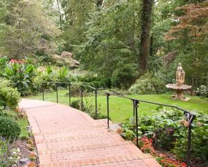 Back Walkway and Fountain