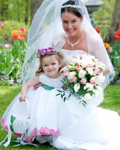 Bride and Flower Girl Artistic Difference