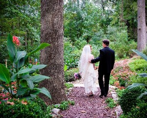 Bride and Groom on Walkway