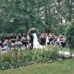 Carriage House ceremony garden