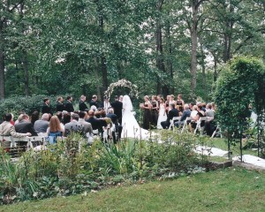 Carriage House ceremony garden
