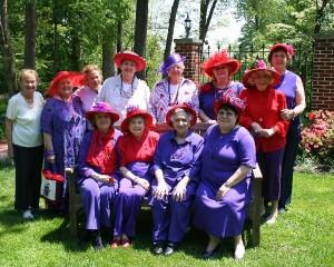Classy Cats Red Hat Ladies Tea