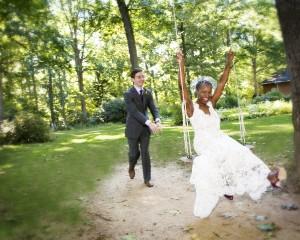 Couple Swinging