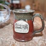 Gramercy Mansion logo coffee mug by guest coffee maker