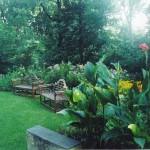 July garden benches