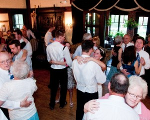 Guests Dancing in Mansion Artistic Difference
