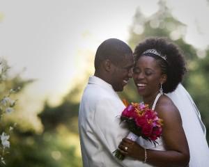 Happy Bride and Groom Evan Bishop