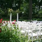 Carriage House garden ceremony in June