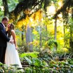 Wedding couple in garden, Laurie DeWitt, Photographer