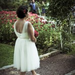 Bride on garden path, Tim Yantz Photography
