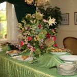 Wedding shower buffet in Carriage House dining room