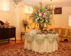 Wedding shower food station in Batik Room