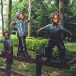 Sculpture in Shade Garden
