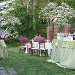 Spring cocktail reception with azaleas