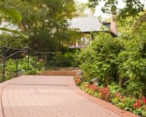 Walkway Facing Back of Mansion