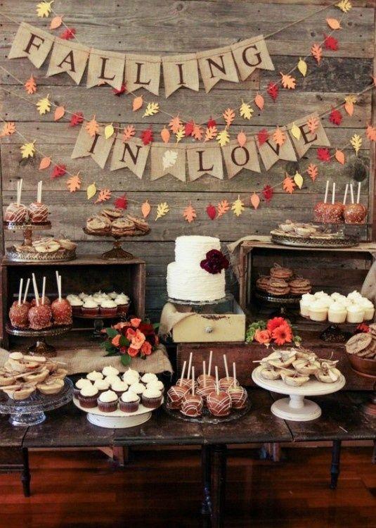 5 fun fall wedding ideas gramercy mansion fall wedding ideas dessert display junglespirit Gallery