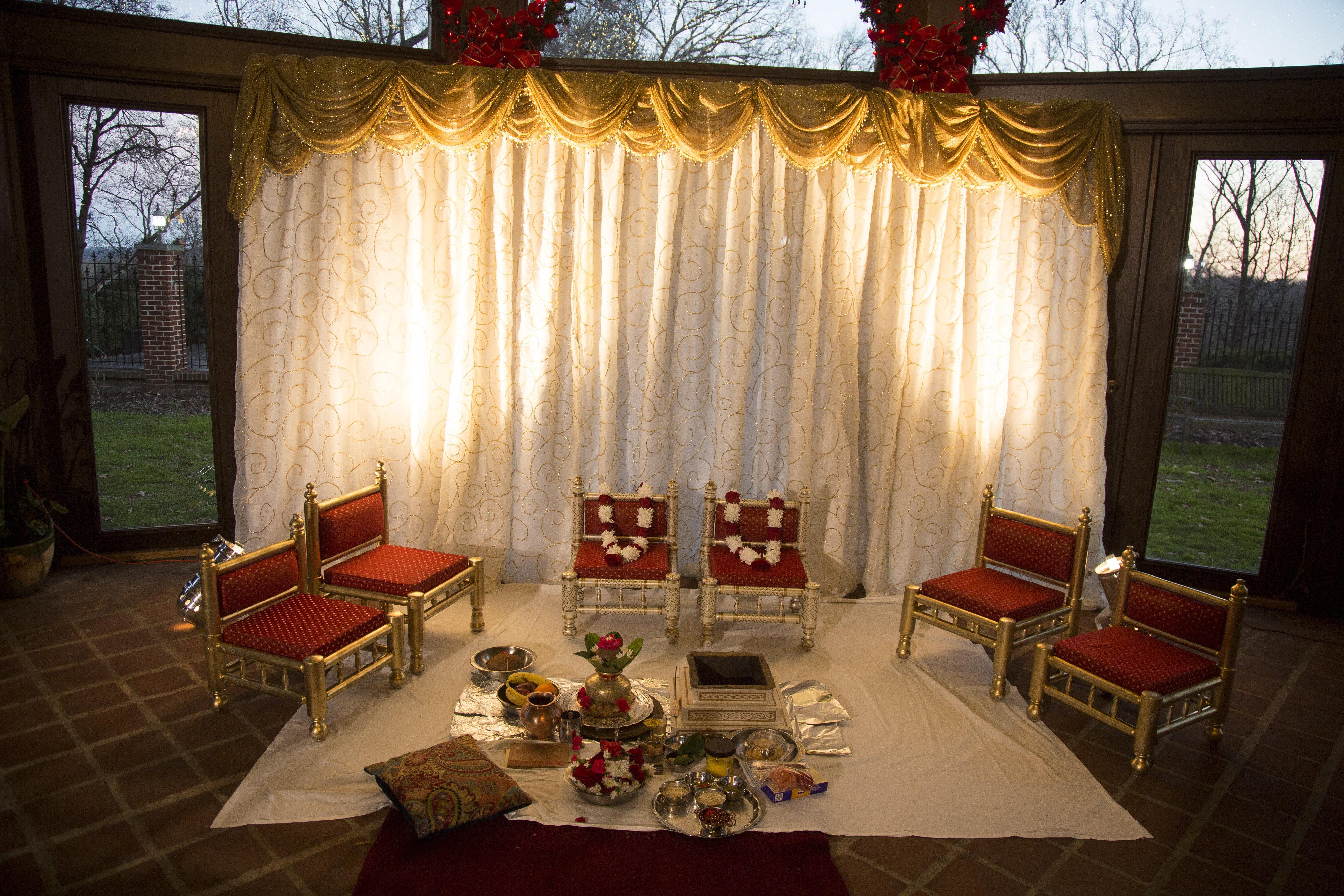 Indian Wedding Ceremony Altar
