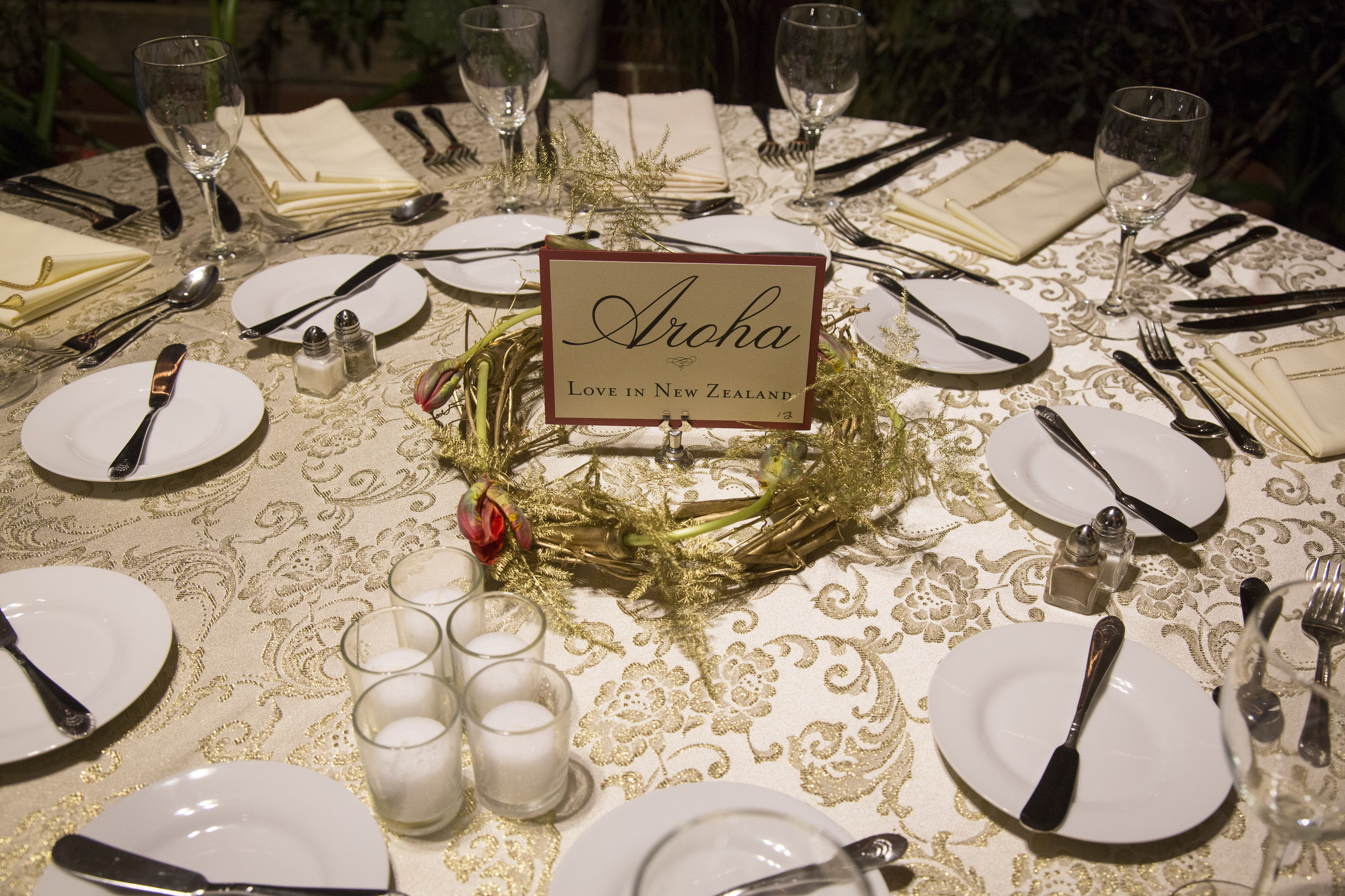 Love Around The World Table Settings For Wedding Reception