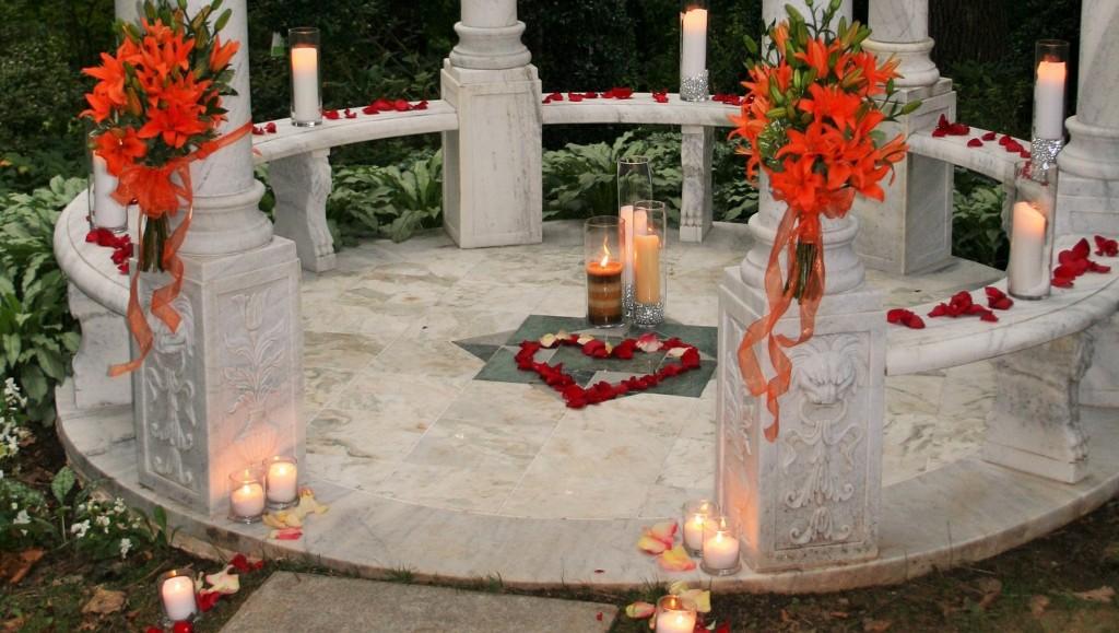 Romantic getaway wedding proposal concierge