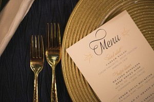 wedding catering saschas catering menu and place setting
