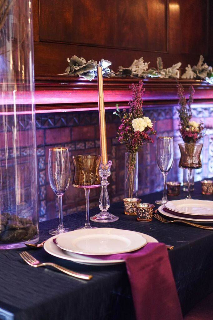 wedding catering saschas catering wedding show display