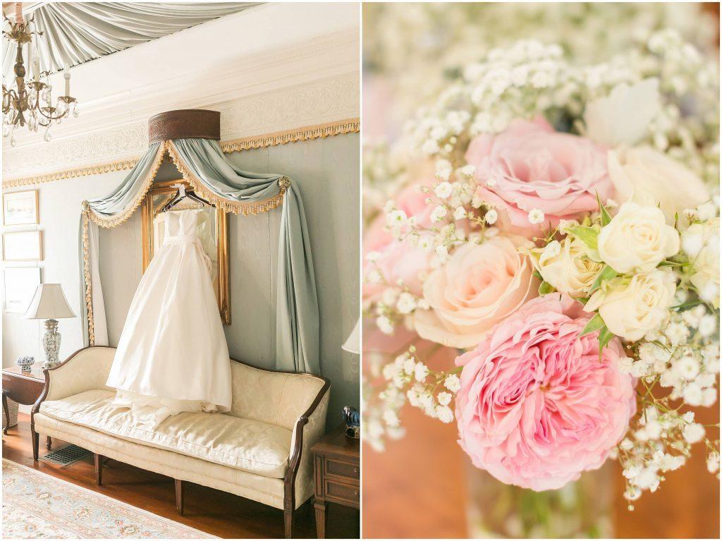 wedding gown | Blue Garden Suite | Gramercy Mansion