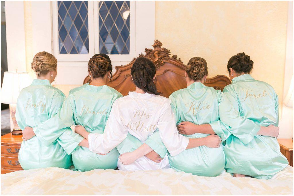 Bridal party | Blue Garden Suite | Gramercy Mansion wedding venue